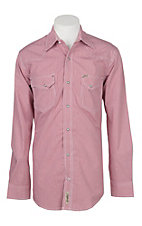 Rafter C Cowboy Collection Men's Red Gingham Print L/S Western Snap Shirt