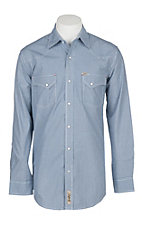 Rafter C Cowboy Collection Blue Mini Gingham L/S Western Snap Shirt
