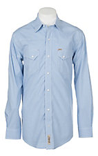 Rafter C ProFlex45 Men's Light Blue Gingham L/S Western Snap Shirt