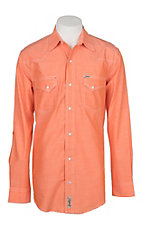 Rafter C ProFlex45 Men's Orange Chambray L/S Western Snap Shirt