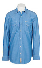 Rafter C ProFlex45 Men's Blue Chambray L/S Western Snap Shirt