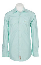 Rafter C Cowboy Collection Men's Mint Stripe L/S Western Snap Shirt