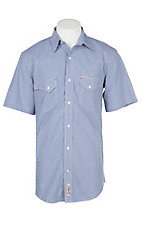 Rafter C ProFlex45 Men's Blue Gingham S/S Western Snap Shirt