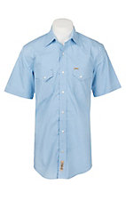 Rafter C ProFlex45 Men's Light Blue Mirco Print S/S Western Snap Shirt