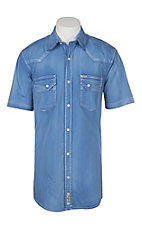 Rafter C ProFlex45 Men's Blue Chambray S/S Western Snap Shirt