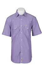 Rafter C ProFlex45 Men's Purple Chambray S/S Western Snap Shirt
