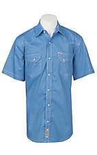 Rafter C ProFlex45 Men's Blue Circle Print S/S Western Snap Shirt