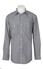 Rafter C ProFlex45 Men's Black Mini Gingham L/S Western Snap Shirt