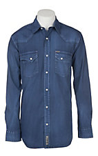 Rafter C ProFlex45 Men's Blue Stretch L/S Western Snap Shirt