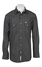 Rafter C ProFlex45 Men's Black and Grey Micro Geo Print L/S Western Snap Shirt
