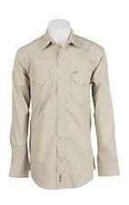 Rafter C ProFlex Stretch Men's Khaki Micro Striped Long Sleeves Western Shirt