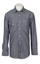 Rafter C ProFlex45 Men's Dark Grey Chambray L/S Western Snap Shirt
