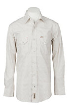 Rafter C ProFlex45 Men's Khaki and White Paisley Print L/S Western Shirt
