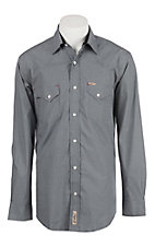 Rafter C Men's ProFlex Stretch Black Mini Gingham Long Sleeve Western Shirt