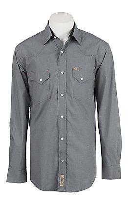 Rafter C Men's ProFlex Stretch Black Mini Gingham Long Sleeve Western Shirt