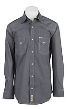Rafter C Men's ProFlex Stretch Black Micro Stripe Long Sleeve Western Shirt