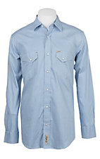 Rafter C ProFlex Stretch Men's Blue and White Stripe Long Sleeve Western Shirt