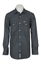 Rafter C Men's Black Geo Print Stretch Western Shirt