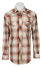 Rafter C ProFlex Stretch Men's Red and Brown Plaid Long Sleeve Western Shirt