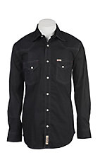 Rafter C Men's ProFlex Stretch Black Grey Diamond Long Sleeve Western Shirt - Big & Tall