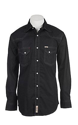 Rafter C Men's ProFlex Stretch Black Grey Diamond Long Sleeve Western Shirt