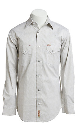 Rafter C ProFlex Stretch Men's Ivory Paisley Print Long Sleeve Western Shirt - Big & Tall