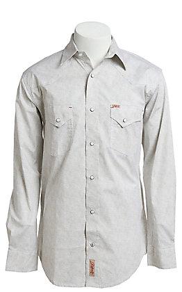 Rafter C ProFlex Stretch Men's Ivory Paisley Print Long Sleeve Western Shirt