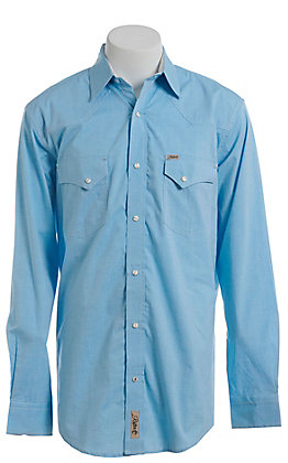 Rafter C ProFlex Stretch Men's Sky Blue Long Sleeve Western Shirt