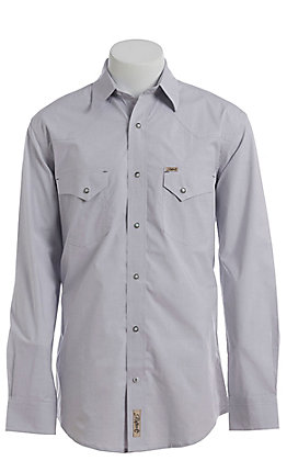 Rafter C ProFlex Stretch Men's Grey Chambray Long Sleeve Western Shirt