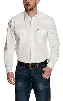 Rafter C ProFlex45 Men's Solid White Long Sleeve Western Shirt