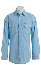 Rafter C ProFlex Stretch Men's Turquoise Ringspun Long Sleeve Western Shirt