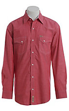 Rafter C ProFlex Stretch Men's Red Chambray Long Sleeve Western Shirt