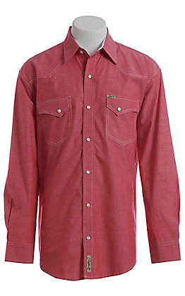 4e1b761a Rafter C ProFlex Stretch Men's Red Chambray Long Sleeve Western Shirt