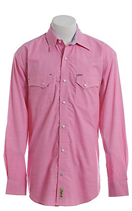 Rafter C ProFlex Stretch Men's Pink Chambray Long Sleeve Western Shirt