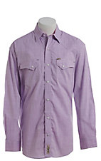Rafter C ProFlex Stretch Men's Purple Chambray Long Sleeve Western Shirt