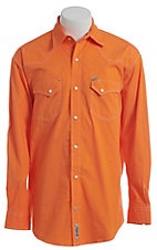 Rafter C ProFlex Stretch Men's Solid Orange Long Sleeve Western Shirt