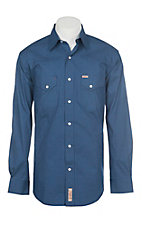 Rafter C ProFlex Stretch Men's Blue Geo Print Long Sleeve Western Shirt - Big & Tall