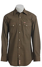 Rafter C ProFlex Stretch Men's Black With Khaki Diamond Print Long Sleeve Western Shirt