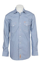 Rafter C ProFlex Stretch Men's Blue Star Geo Print Long Sleeve Western Shirt - Big & Tall