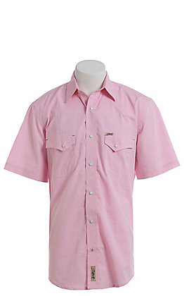 Rafter C ProFlex Stretch Men's Pink Chambray Short Sleeve Western Shirt