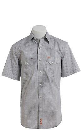 Rafter C ProFlex Stretch Men's Grey & Black Geo Print Short Sleeve Shirt