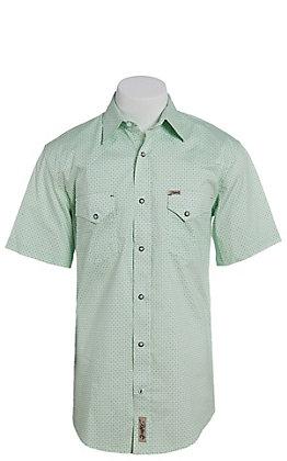 Rafter C ProFlex Stretch Men's Green Floral Print Short Sleeve Western Shirt