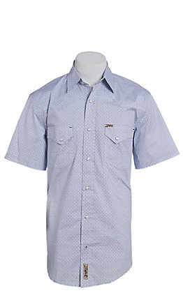 6ca7d72578e Rafter C ProFlex Stretch Men s Black and Blue Floral Print Short Sleeve  Western Shirt