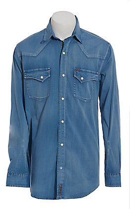 Rafter C ProFlex Performance Stretch Men's Denim Long Sleeve Western Shirt