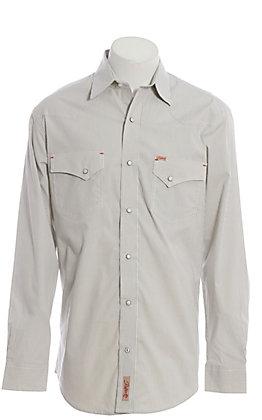 Rafter C ProFlex Men's Grey Stripe Long Sleeve Western Shirt