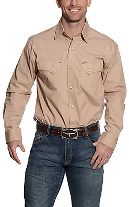 Rafter C ProFlex45 Men's Mustard Geo Print Long Sleeve Western Shirt