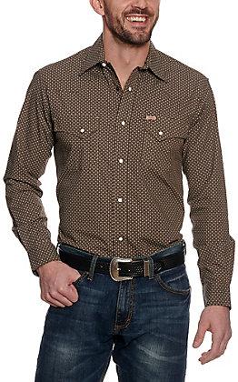 Rafter C ProFlex45 Men's Chocolate Geo Print Long Sleeve Western Shirt