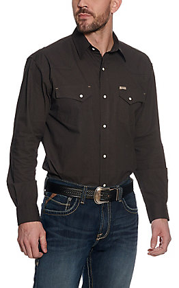 Rafter C ProFlex45 Men's Chocolate Textured Long Sleeve Western Shirt