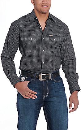 Rafter C ProFlex45 Men's Black Flroal Print Long Sleeve Western Shirt