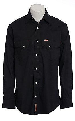 Rafter C ProFlex45 Men's Black Geo Print Long Sleeve Western Shirt